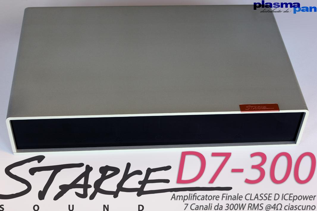 STARKE SOUND D7 Amplificatore Finale Multicanale 7 x 300W IcePower