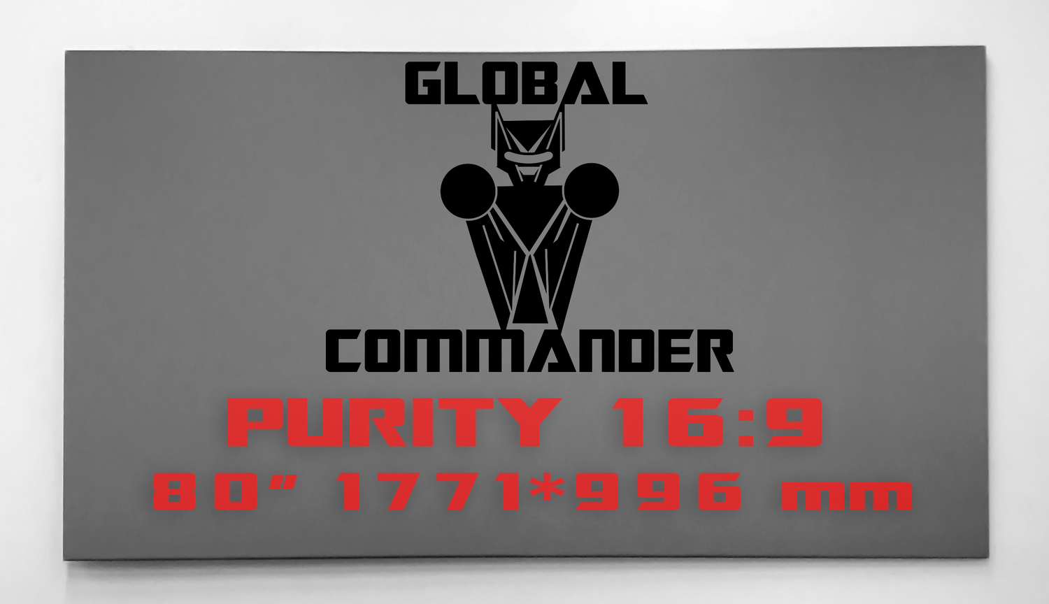 "GLOBAL COMMANDER ""PURITY"" 16:9 80"" - Schermo Videoproiettore 4K / 8K"