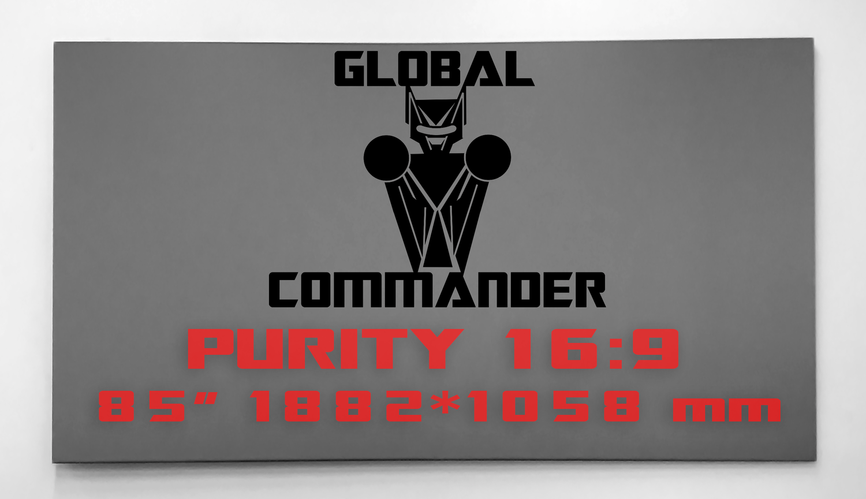 "GLOBAL COMMANDER ""PURITY"" 16:9 85"" - Schermo Videoproiettore 4K / 8K"