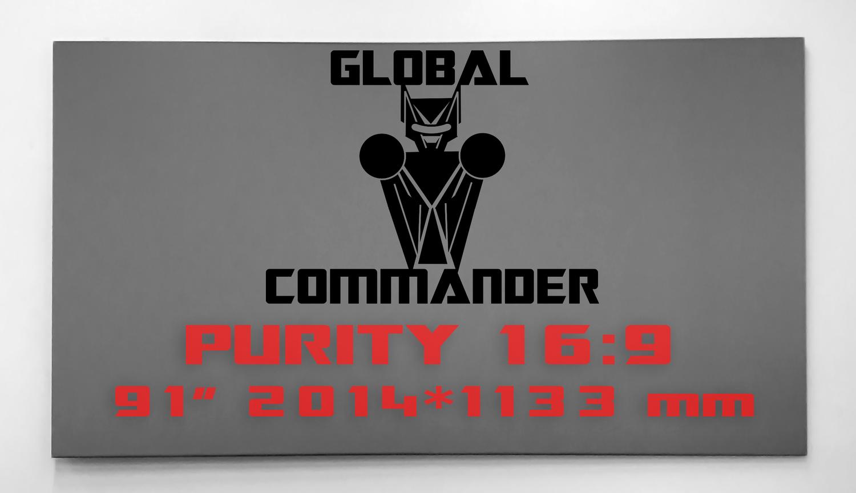 "GLOBAL COMMANDER ""PURITY"" 16:9 91"" - Schermo Videoproiettore 4K / 8K"