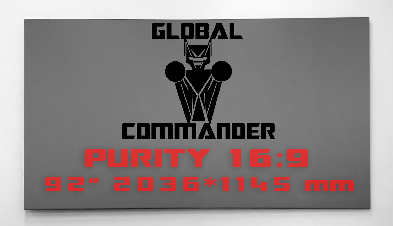 "GLOBAL COMMANDER ""PURITY"" 16:9 92"" - Schermo Videoproiettore 4K / 8K"