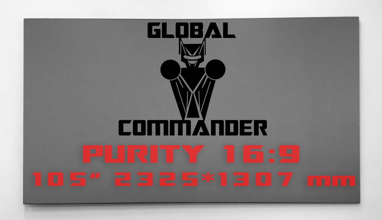 "GLOBAL COMMANDER ""PURITY"" 16:9 105"" - Schermo Videoproiettore 4K / 8K"