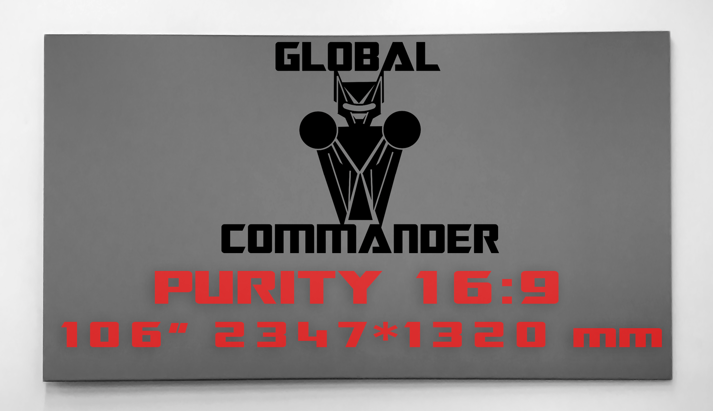 "GLOBAL COMMANDER ""PURITY"" 16:9 106"" - Schermo Videoproiettore 4K / 8K"