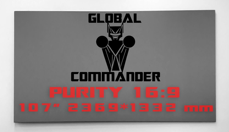 "GLOBAL COMMANDER ""PURITY"" 16:9 107"" - Schermo Videoproiettore 4K / 8K"