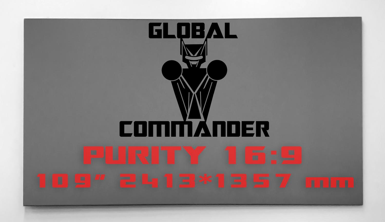"GLOBAL COMMANDER ""PURITY"" 16:9 109"" - Schermo Videoproiettore 4K / 8K"