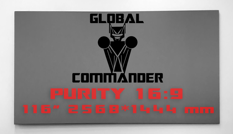 "GLOBAL COMMANDER ""PURITY"" 16:9 116"" - Schermo Videoproiettore 4K / 8K"