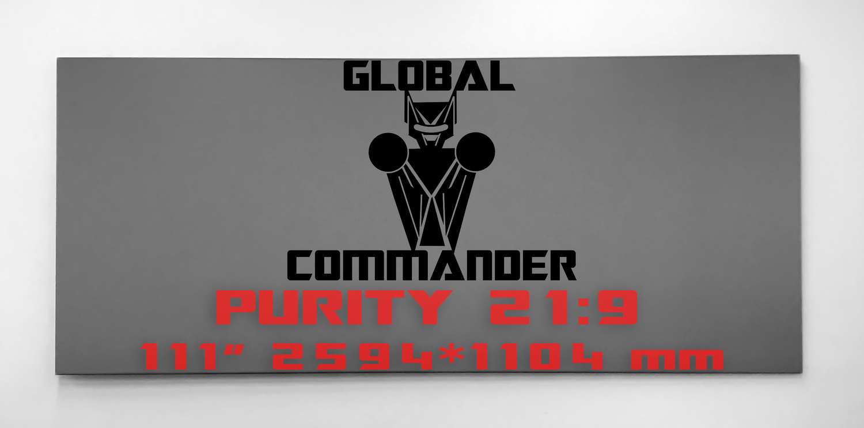 "GLOBAL COMMANDER ""PURITY"" 21:9 111"" - Schermo Videoproiettore 4K / 8K"