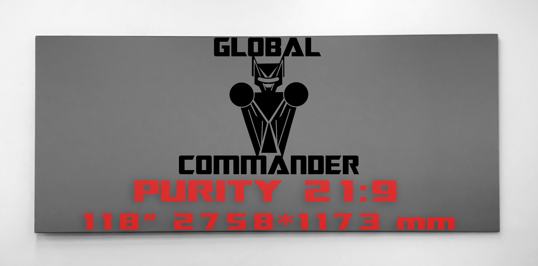 "GLOBAL COMMANDER ""PURITY"" 21:9 118"" - Schermo Videoproiettore 4K / 8K"