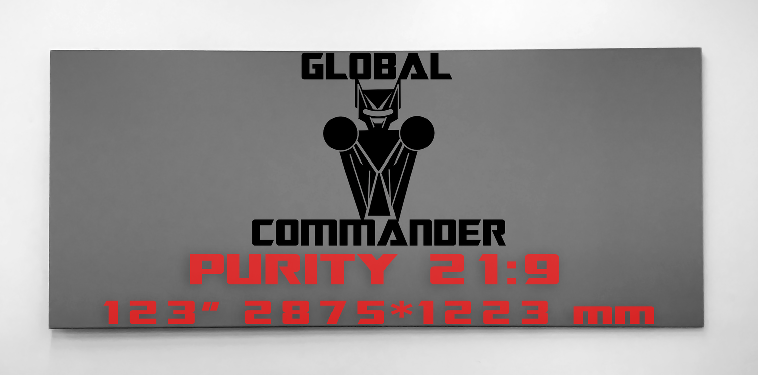 "GLOBAL COMMANDER ""PURITY"" 21:9 123"" - Schermo Videoproiettore 4K / 8K"