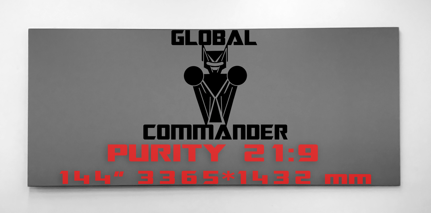 "GLOBAL COMMANDER ""PURITY"" 21:9 144"" - Schermo Videoproiettore 4K / 8K"