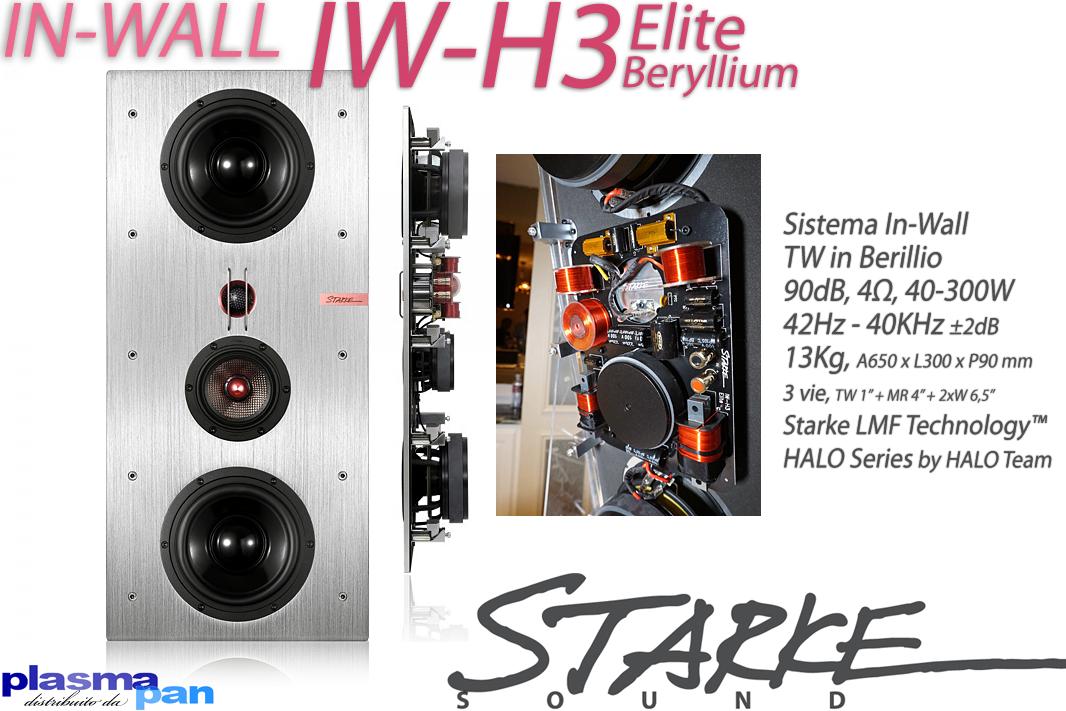 STARKE SOUND IW-H3 Elite BERYLLIUM Diffusori Acustici ( casse ) [coppia] Incasso In-Wall Reference