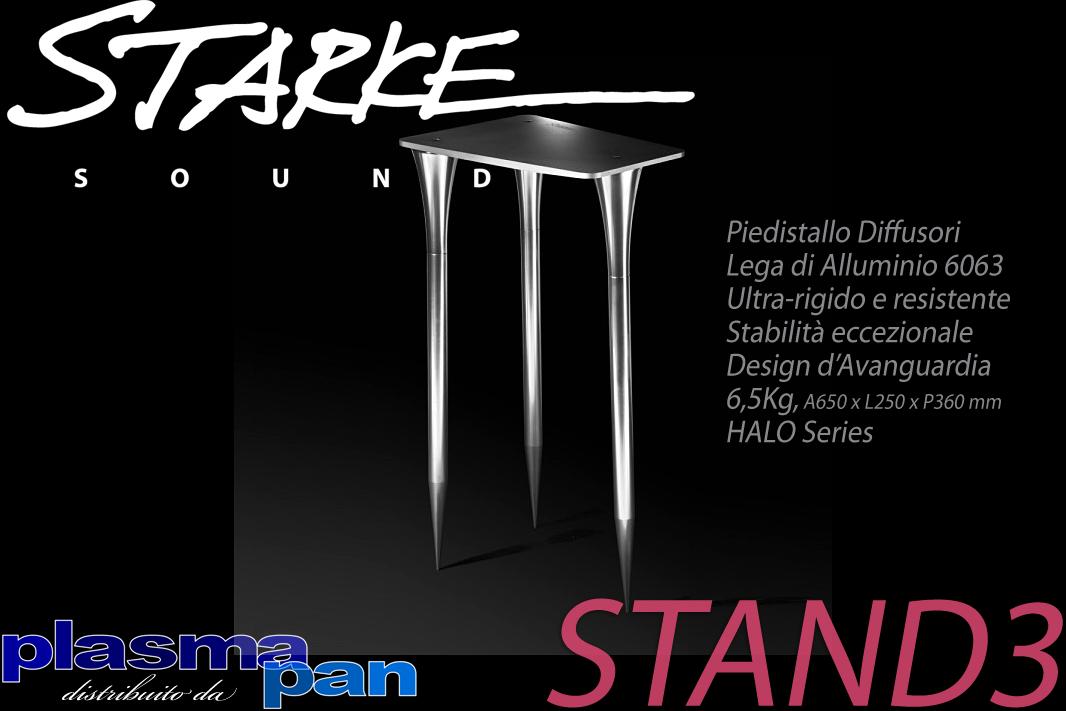 STARKE SOUND STAND3 Piedistallo Diffusori Acustici ( casse ) [coppia] Lega Alluminio Reference