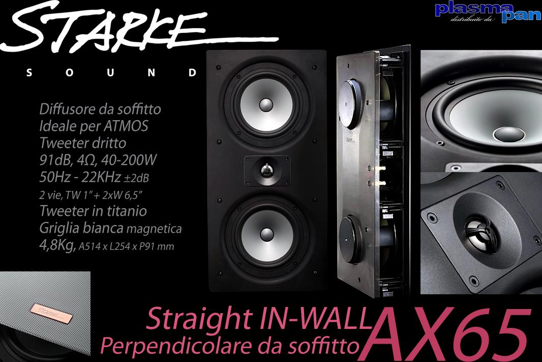 STARKE SOUND AX65 Diffusori Acustici da Soffitto ( casse ) [coppia] ATMOS Reference