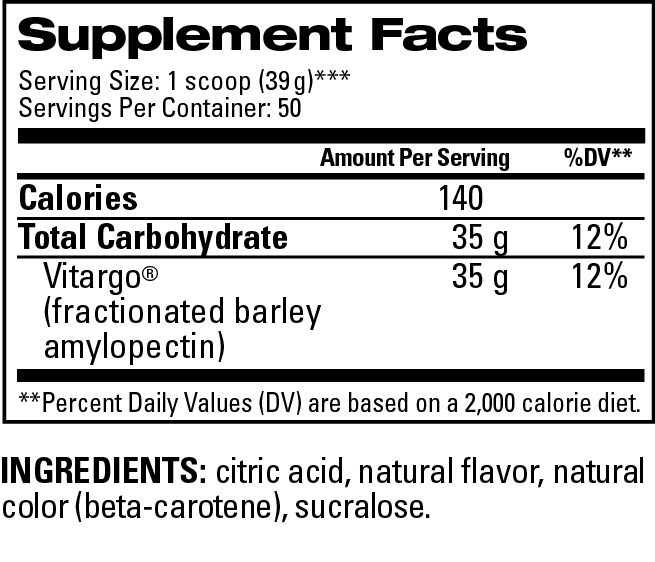 Mango 50 Scoop Supplement Facts