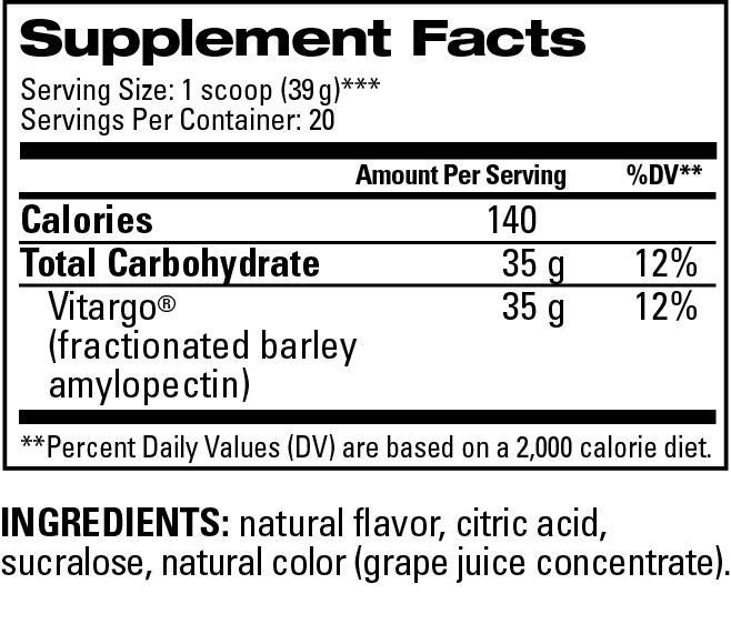 Grape Supplemental Facts