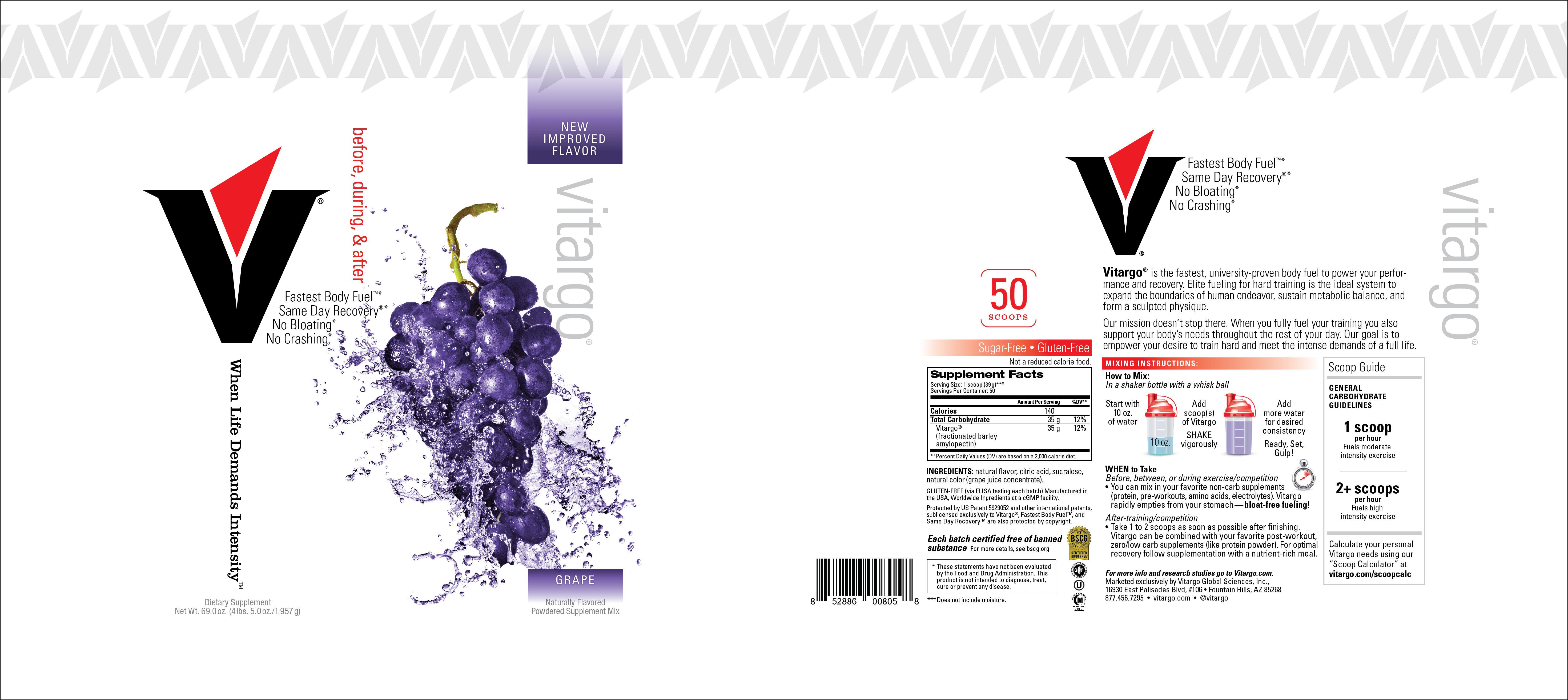 Grape 20 Scoop Label