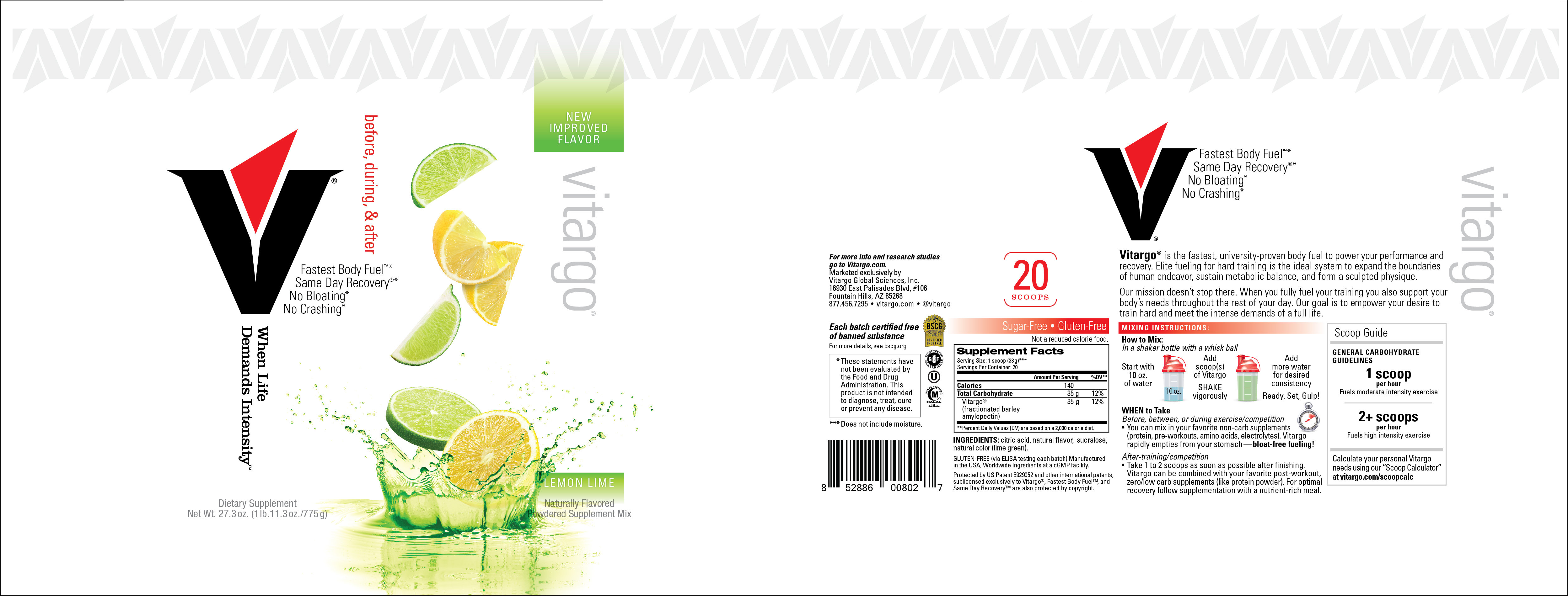 LemonLime 20 Scoop Label