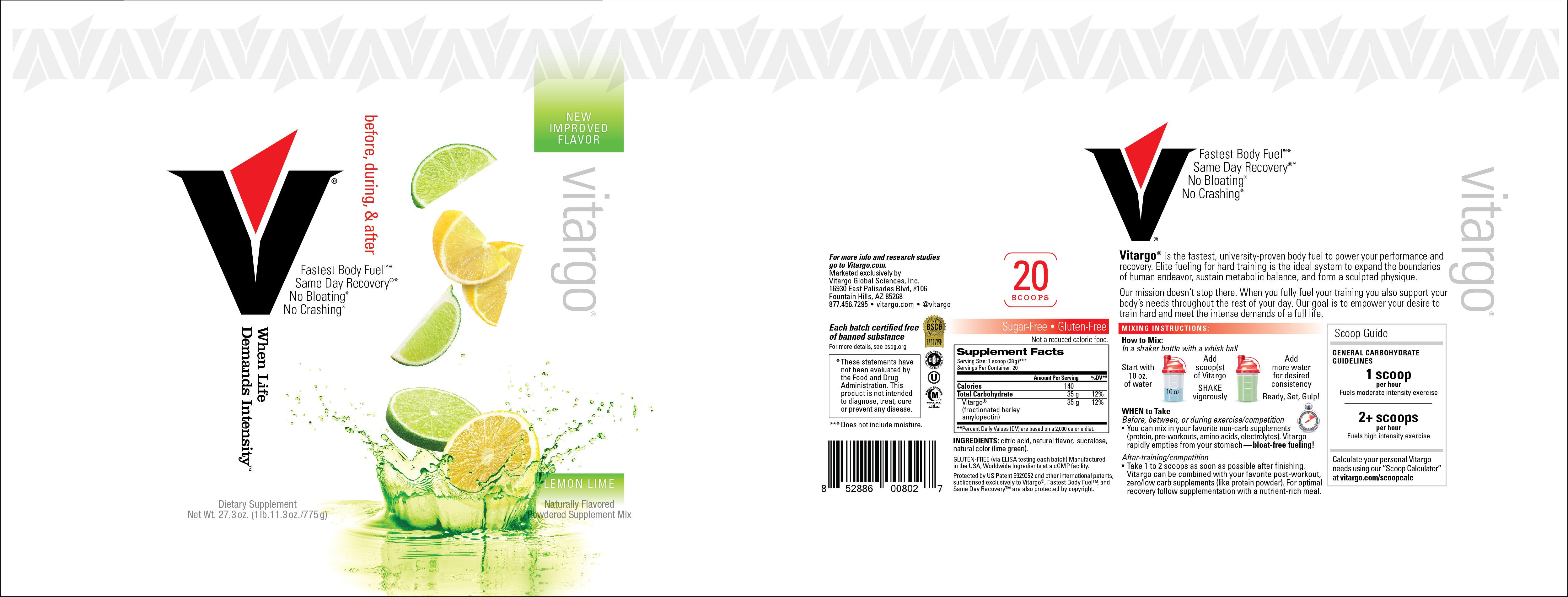LemonLime 20 Scoop Label