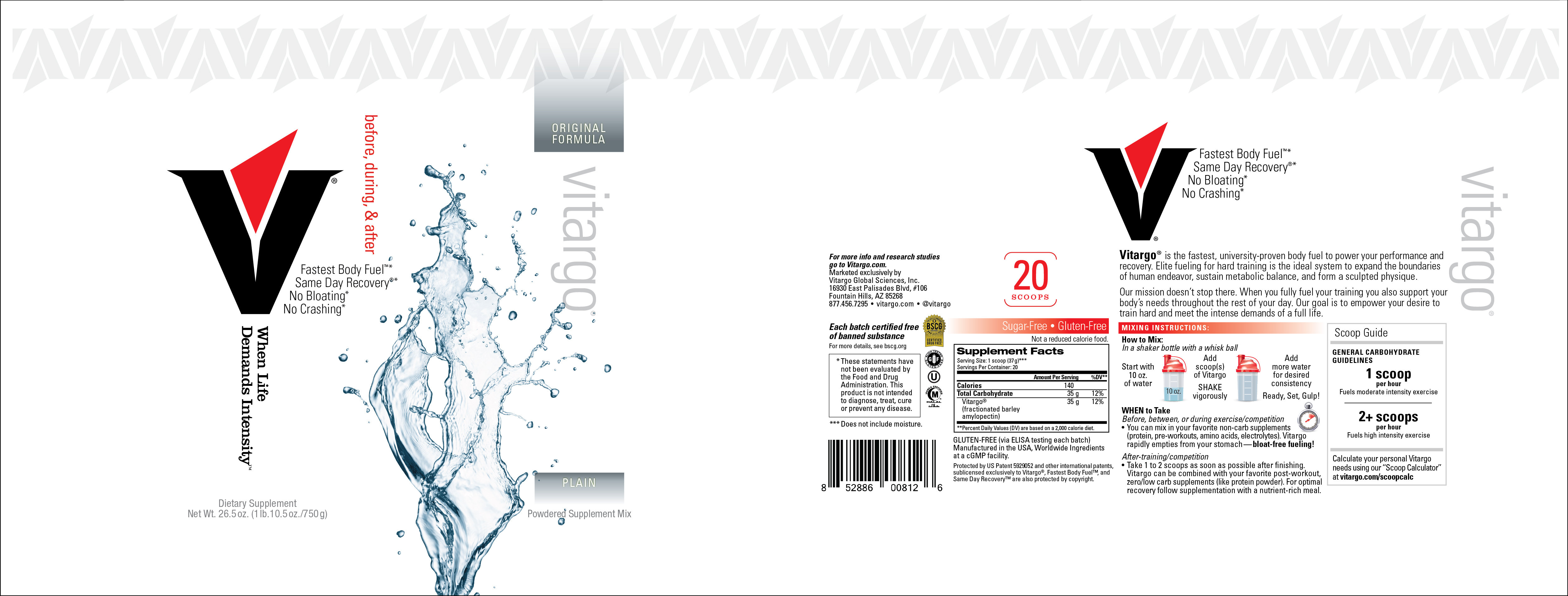 Plain 20 Scoop Label