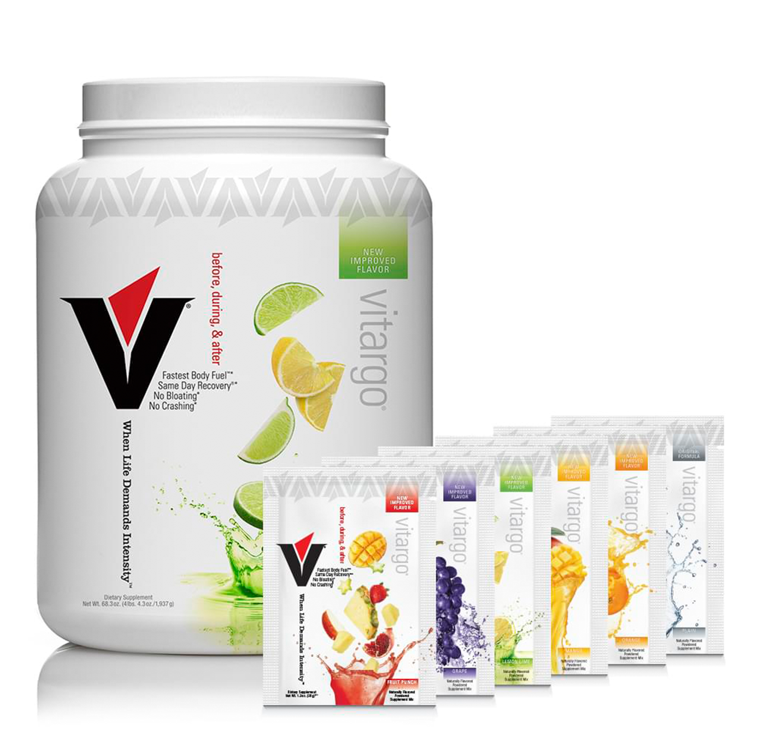 Vitargo 50 Scoop Lemon Lime + 6 Single-Scoop Packets 50lemvt+6mixsingle