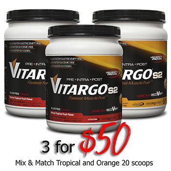 Vitargos2 Muscle Fuel 3 10 servings Tropical Fruit 3vit20trporg