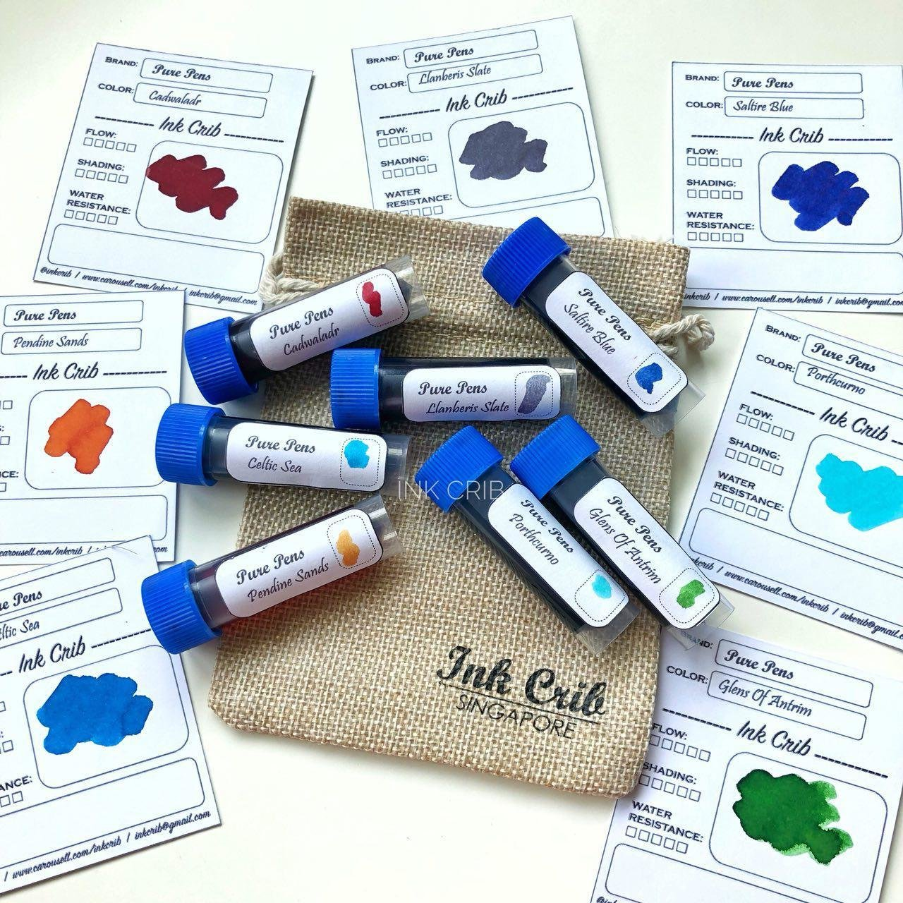 Pure Pens Ink Samples