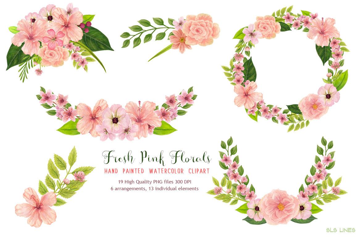 Fresh Pink & Peach Hibiscus Florals