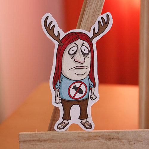 Funny Little Men Handcut Stickers