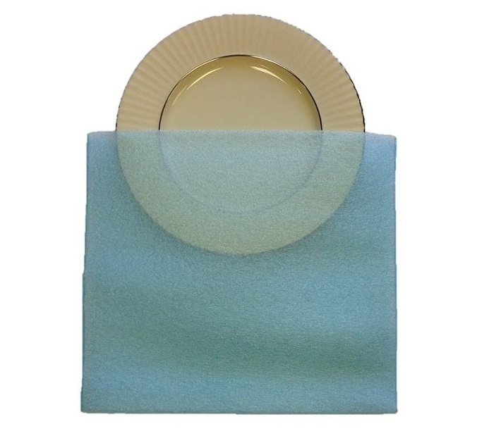 "Saucer Pouches Pack of 10 for China & Valuables 13x12"" FP-10"