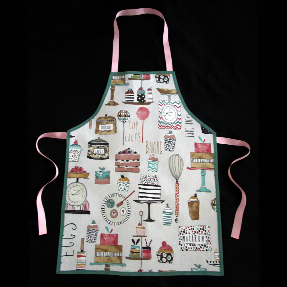 Wipe Clean PVC Coated Aprons Adults and Childrens Sizes 100/% Cotton Oilcloth