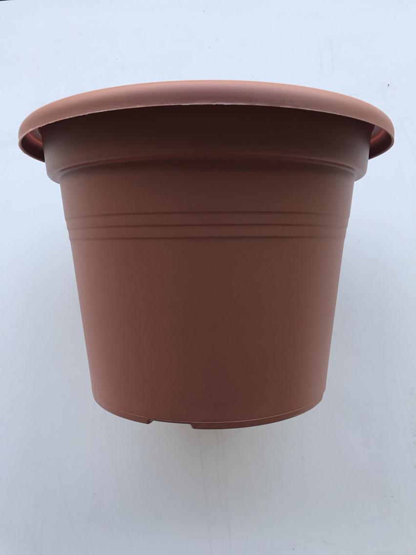 Vaso festonato plastica finto cotto cm 40