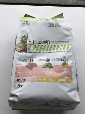 TRAINER MINI ADULT MAIALE PISELLI OLIO 2 kg