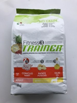 TRAINER FITNESS 3 ADULT MED MAXI CONIGLIO PATATE OLIO KG 3