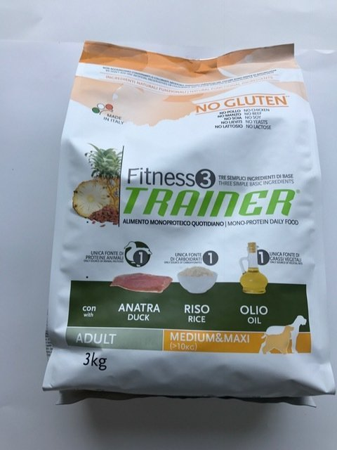 TRAINER FITNESS 3 MED MAXI ADULT ANATRA RISO OLIO KG 3