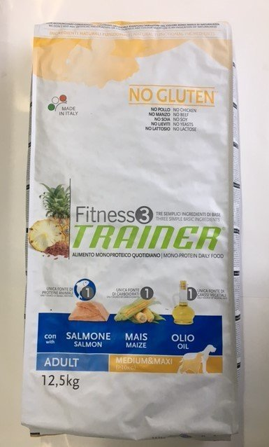 TRAINER FITNESS 3 ADULT MED MAXI SALMONE MAIS OLIO KG 12.5