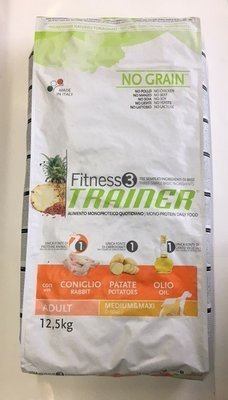 TRAINER FITNESS 3 ADULT CONIGLIO PATATE OLIO KG 12.5