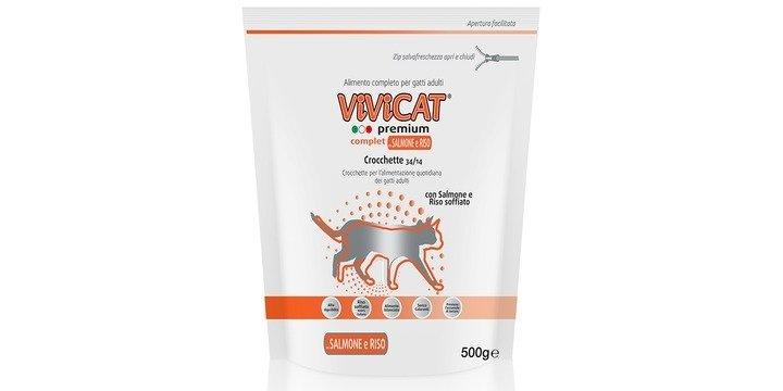 Fortesan Vivicat Vivicat Premium Complet Con Salmone E Riso Soffiato GR 500