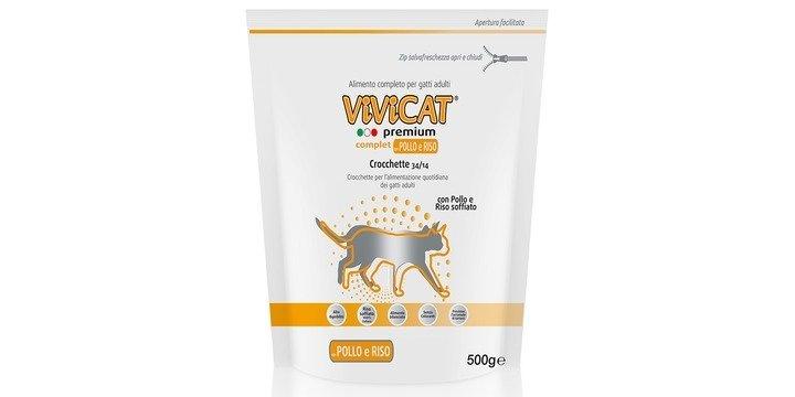 Vivicat Premium Complet Con Pollo E Riso Soffiato GR 500