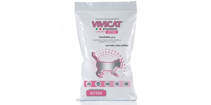 Vivicat Premium Complet Kitten Con Pollo E Riso Soffiato kg 1.5
