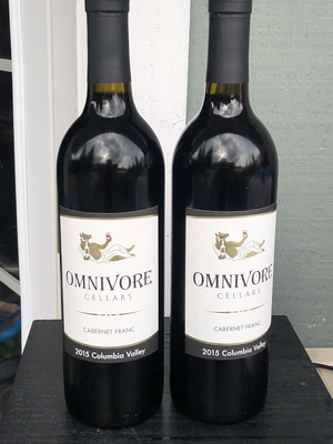 2 pack 2015 Omnivore Cabernet Franc