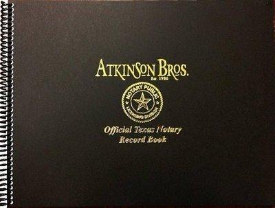 Texas Notary Record Book