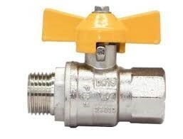AGA T Handle Ball Valve M&F Chrome Plated Brass