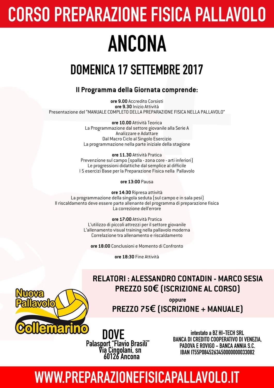 Corso Preparazione Fisica Pallavolo - Ancona 17.09.2017