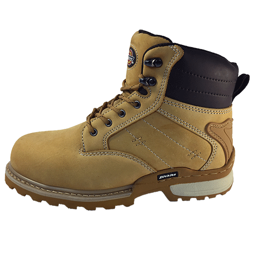 Dickies Canton Safety Boot Leather Steel Toe Work Workwear Honey