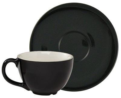 Чашка черная 453 мл и блюдце Rattleware