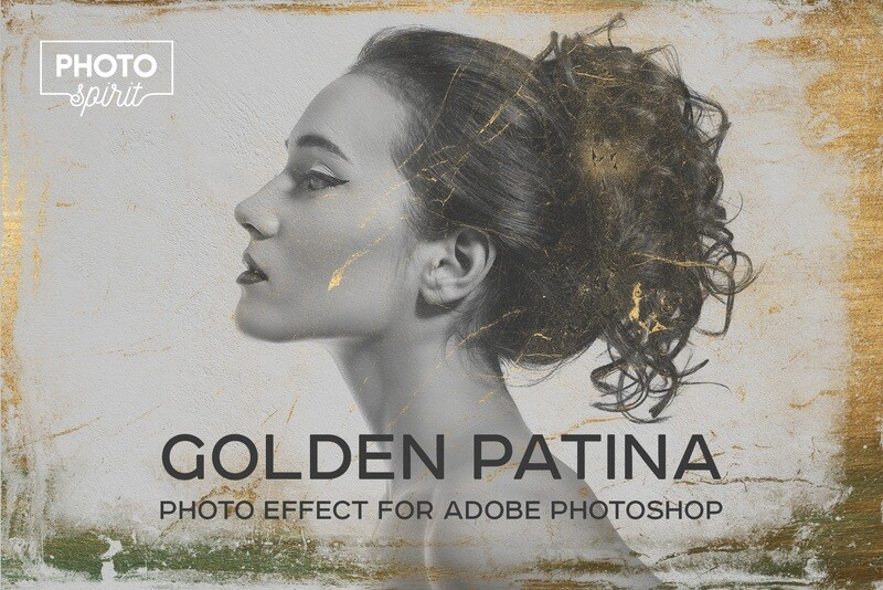 Golden Patina Photo Effect