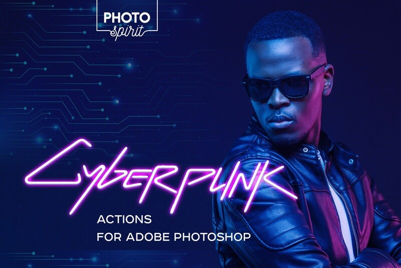 Cyberpunk Actions For Photoshop