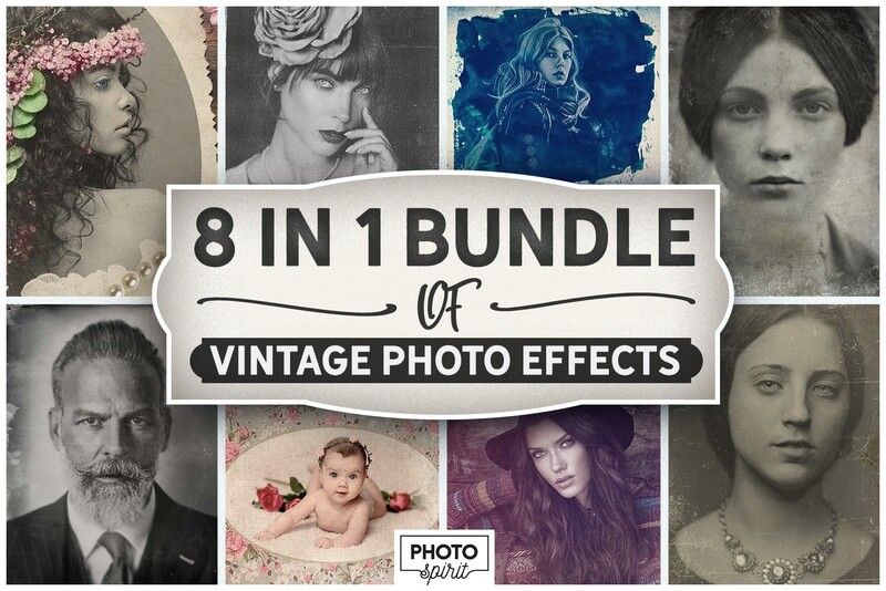 8-IN-1 BUNDLE Vintage Photo Effects