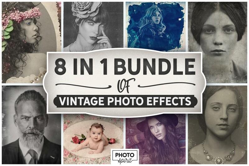 8-IN-1 BUNDLE Vintage Photo Effects