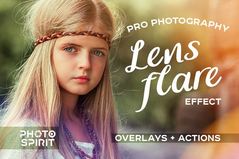Pro Photography Lens Flare Overlays